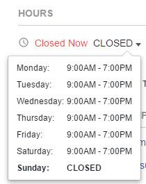 Facebook Opening Hours