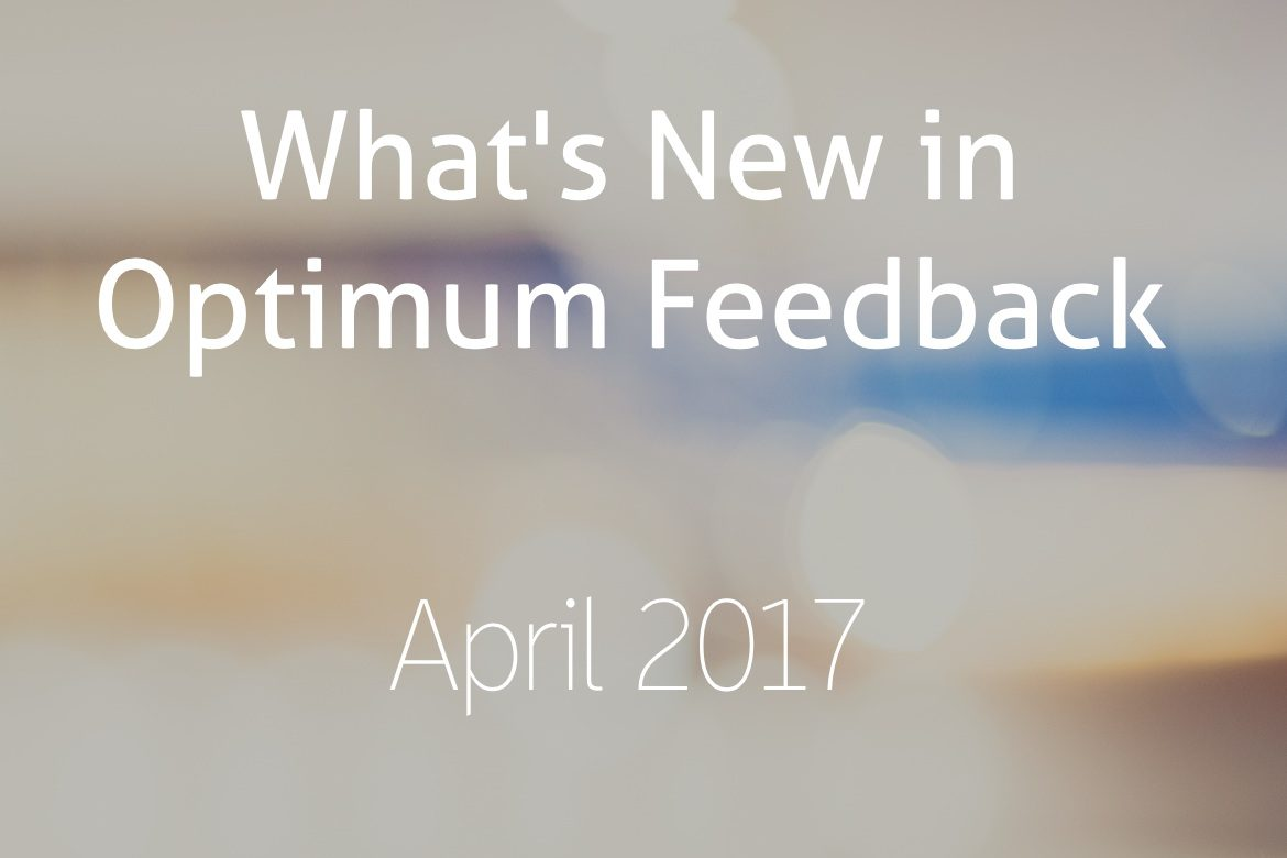 New Features - Optimum Feedback