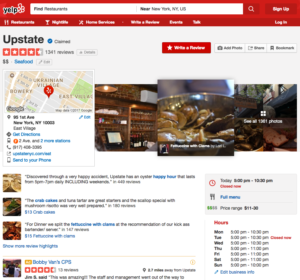 Good Yelp Review Presence